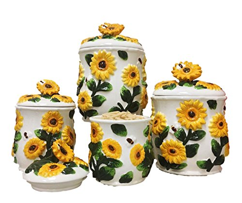 Sunflower Kitchen Canisters - Set of 4