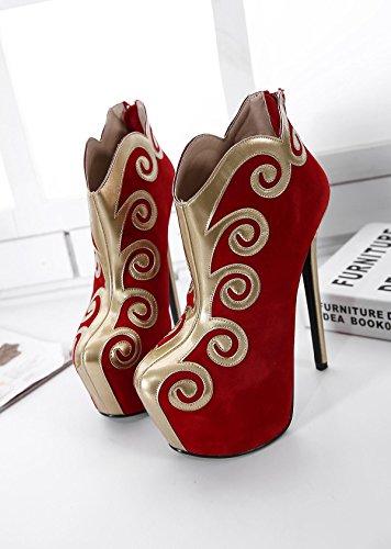 forme Style amp; imperméable Chinoise Plate RED Soirée Talon Extérieur Femmes Talons épais Carrière 35 Stiletto Nuages Casual Bureau LvYuan amp; Soirée mxx xzqI88Z