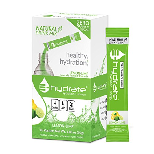 E-hydrate Natural Drink Mix - (Lemon-Lime, 10-pack Box)