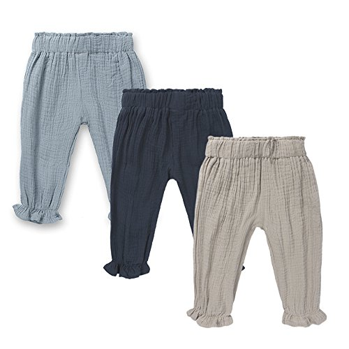 Newborn Boys Pant - Mary ye Baby Boys Girls 3 Pack Cotton Linen Trousers Unisex Anti-Mosquito Casual Pants