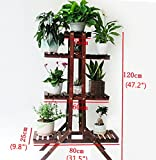 Carbonized Pine Wood Shelf 3 Tiers Design Handmade Plant Stand Burned Cedar Bonsai Gardening Planter Shoe Racks Balcony Living Room Indoor Outdoor Bathroom