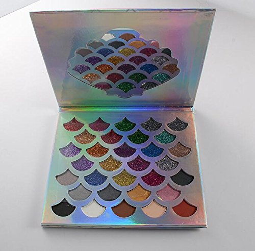 32 colors Fashion Women Beauty Cosmetics The Mermaid Glitter Prism Palette Eye Makeup Eyeshadow