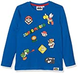 Nintendo Super Mario BROS Boy's 161543 T-Shirt, (Bleu), 9 Years