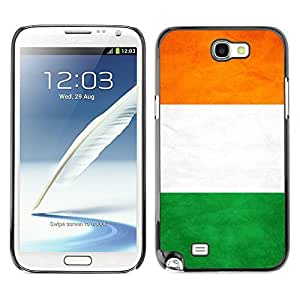 Shell-Star ( National Flag Series-Ivory Coast ) Snap On Hard Protective Case For Samsung Galaxy Note 2 II / N7100