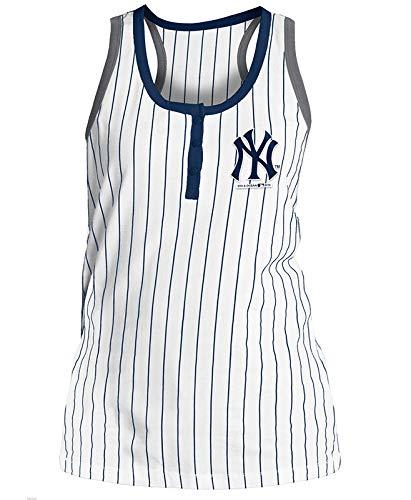 848c42fd Amazon.com : 5th & Ocean New York Yankees Women's Glitter Pinstripe ...