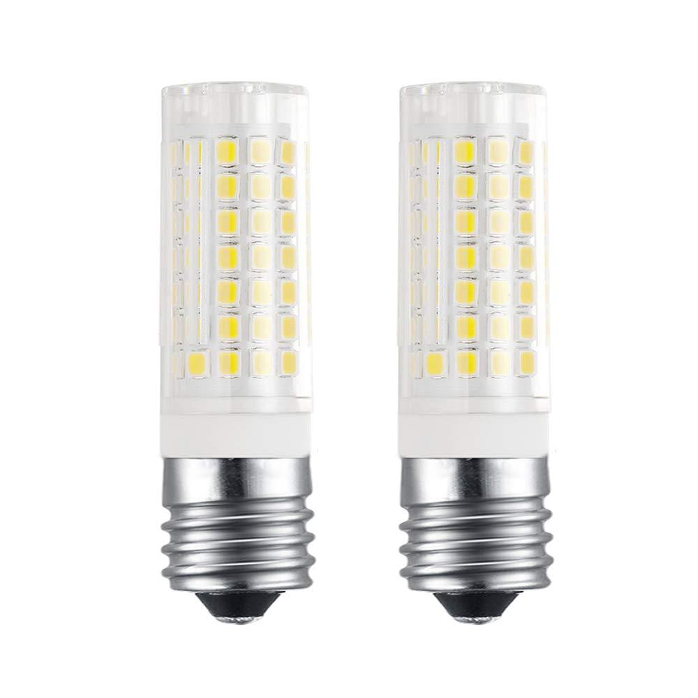 Bogao E17 LED Bulb for Microwave Oven, Freezer, Under-Microwave Stove Light, 7.5 Watt (75W Halogen Bulbs Equivalent), AC110-130V, Intermediate Base Led No-Dimmable E17 Bulb, 2-Pack (White 6000K)
