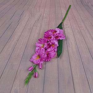 Dasanito3089 Artificial Flower Silk Gladiolus Symbolize Love and Courage Used for Wedding Bouquet Or Home Decor with 8 Colors 116