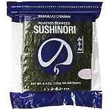 Yamamotoyama Sushi Nori Roasted Seaweed Half Size, 100 sheets