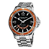 Stuhrling Original Men's 270B.331117 Pioneer Swiss Quartz Date Orange Bezel Watch