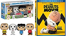 The Peanuts Movie - Blu Ray DVD Peanuts Pop! Minis Peanuts Charlie Brown, Snoopy, Lucy & Linus & Gang kid fun set animated figure bundle from Fox Home Entertainment