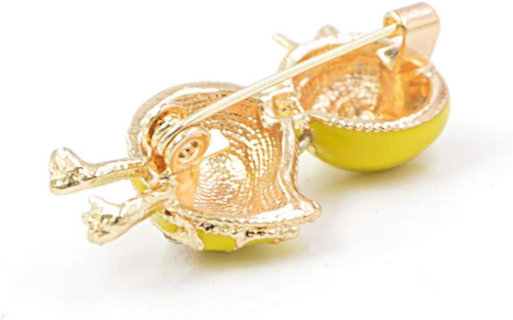 GF.DTR Cute Little Duck Yellow Enamel Animal Brooch Summer Kids T-Shirt Pin Rhinestone Jewelry Drop Shipping
