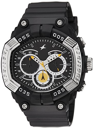 51sMToDmYzL - Fastrack Chronograph Black Dial Men's Watch for Rs 1998 (50% Off) at Amazon