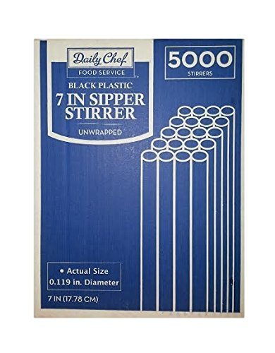 Daily Chefs Sipper Stirrers - 7in/5000ct