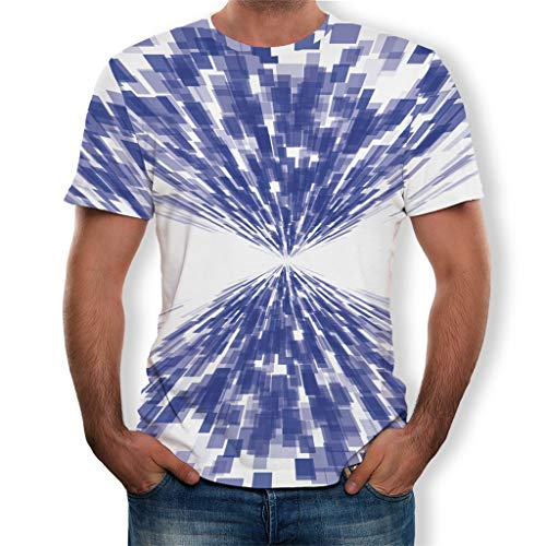 Men Plus Size, Teen Mens T-Shirt Fashion Splash-Ink 3D Print Tees Shirt Short Sleeve Sweatshirts Outwear ()