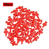 CHICTRY 50Pcs 180/360 Degree Micro Sprayer Garden Gardening Lawn Refraction Watering Atomizing Misting Nozzle Fog Sprinkler Irrigation System Red 360 Degree One Size
