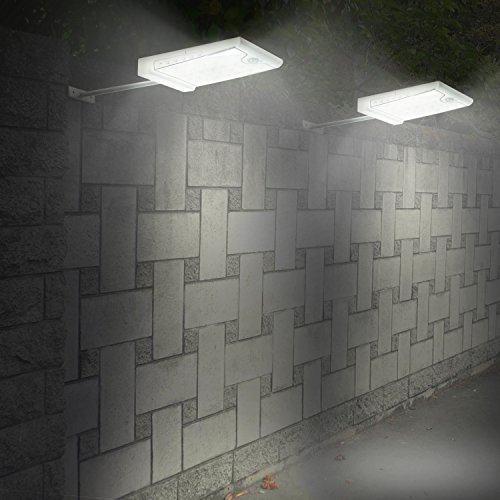 Creative Design 46 LED Solar Lights Outdoor with Mounting Pole, 4 Modes Solar Gutter Light Motion Sensor Light Wall Light for Patio, Barn,Porch,Garage,Stairs, Pack of 2 by CREATIVE DESIGN (Image #7)