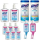 PURELL  9652-K1 Advanced Hand Sanitizer and Sanitizing Wipe Kit