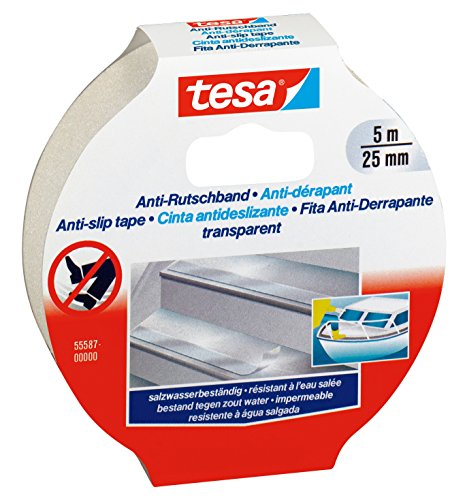 Tesa Anti-Slip Tape – 5m x 25mm, Transparent