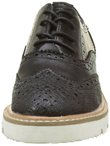 XTI 046706, Zapatos de Cordones Derby para Mujer Negro (Black)