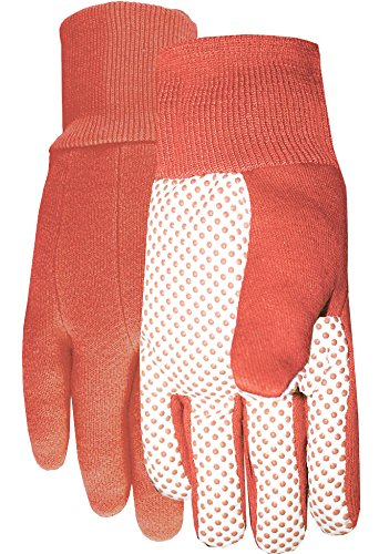 Midwest Gloves & Gear 522H8PK-L-AZ-6 Canvas Glove, Ladies, Orange by Midwest Gloves & Gear (Image #2)