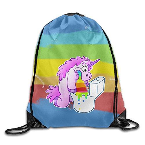 LICORNE ARC EN CIEL VOMIT UNICORN PUKE RAINBOW Drawstring Gym Sport Bag, Large Lightweight Gym Sackpack Backpack For Men And (Parks And Recreation Costume Party)