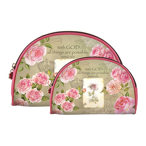 African American Expressions - With God Roses Cosmetic Bags (set of two) COS-09