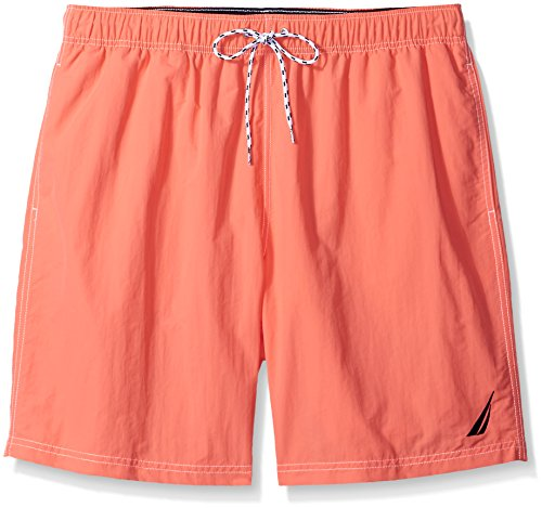 UPC 823283345176, Nautica Men's Big-Tall Quick Dry J Class Swim Trunk, Pale Coral, 3X-Large/Tall