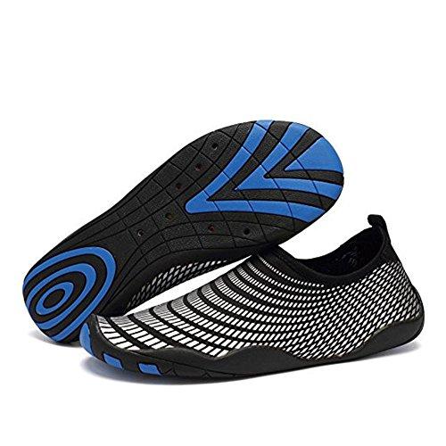 CIOR Männer Frauen Barfuß Quick-Dry Wasser Sport Aqua Schuhe mit 14 Drainage Löcher für Schwimmen, Walking, Yoga, See, Strand, Garten, Park, Fahren J.sliver