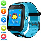 Kids Smart Watch Phone for Boys Girls - AGPS/LBS Position Tracker Smartwatch Camera 2 Way Call Voice Chat SOS Alarm Clock Flashlight Game Child Cellphone Wrist Watch Compatible with iOS/Android