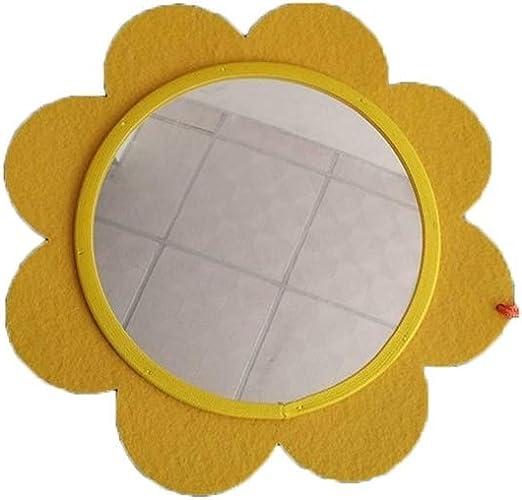 C-J-Xin Precioso Espejo pequeña Flor, jardín de Infancia Decorativo Espejo habitación Vistiendo Espejo Espejo Educación Temprana Cognición bebé de Juguete no Roto Espejo para maquillarse: Amazon.es: Hogar