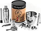 Image of Mixology 15-Piece Cocktail Mixing Bar Set–Bartender Kit: Includes Premium Barware Tools, Cocktail Shaker, Wine Accessories and Ice Bucket - Extra Durable Gift Box - Exclusive Cocktail Recipes Bonus