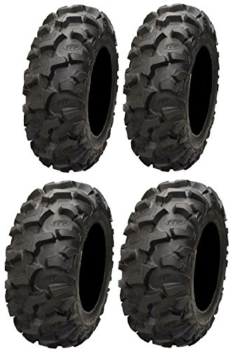 Full set of ITP Blackwater Evolution 28x9-14 and 28x11-14 ATV Tires (4) by Powersports Bundle
