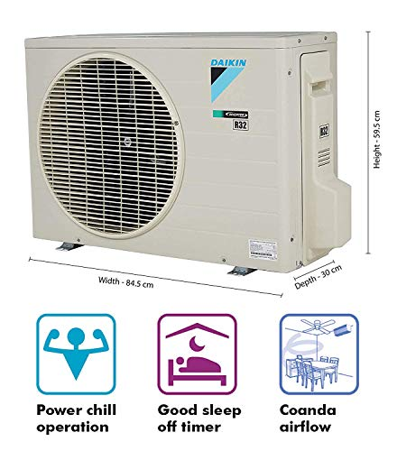 Daikin 1.5 Ton 5 Star Inverter Split AC (Copper FTKM50TV White) 2021 July Split AC with inverter compressor: Variable speed compressor which adjusts power depending on heat load. It is most energy efficient and has lowest-noise operation Energy Rating: 5 Star: , Annual Energy Consumption (as per energy label): 824 units, ISEER Value: 4.7 Manufacturer Warranty: 1 Year on Product, 1 Year on Condenser, 10 Years on Compressor