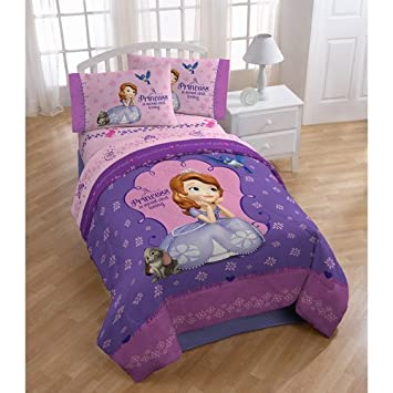 disney junior sofia the first graceful reversible twinfull comforter - Twin Bed Sheets