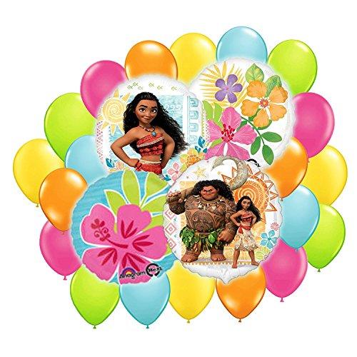 Disney moana balloon bouquet decoration kit 24pc buy for Balloon decoration kit