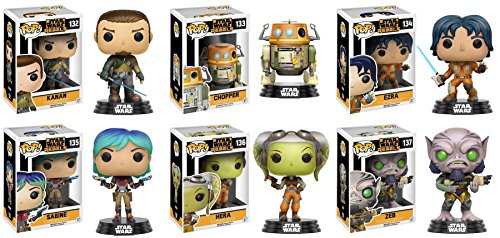 Pop!: Star Wars Rebels Ezra, Kanan, Sabine, Hera, Zeb and Chopper Vinyl Figures! Set of (Chopper Pop)