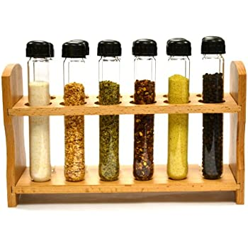 Amazon.com: RSVP Spice Rack with Glass Spice Tube Set
