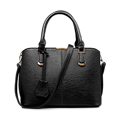 DHFUD Bolso De Hombro Para Mujer Bolso De Mensajero Fashion Classic Black