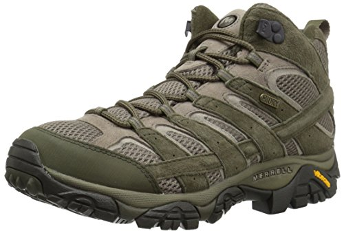 Merrell Men's Moab 2 Mid Waterproof Hiking Boot, Dusty Olive, 9 M US