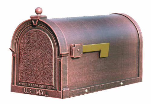 Special Lite Products SCB-1015-CP Berkshire Curbside Mailbox, Copper (Copper Mailbox)