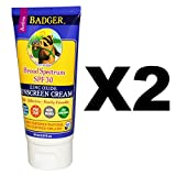 Badger SPF 30 Lavender Sunscreen Cream with Organic Extra Virgin Olive Oil, Shea Butter, Sunflower Vitamin E, Organic Lavender and Jojoba Oils, 2.9 fl. oz. (Pack of 2) Review