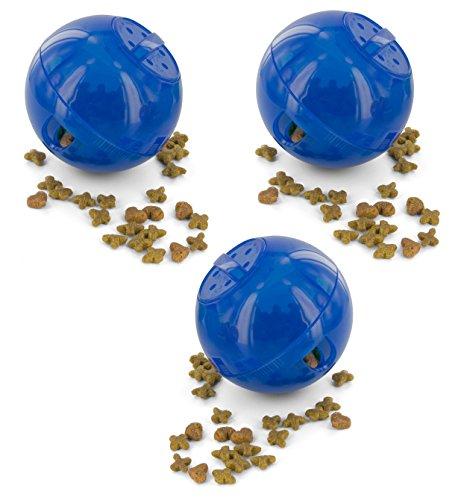 Petsafe SlimCat Meal Dispensing Cat Toy, Blue (3 Pack) (Slimcat Cat)