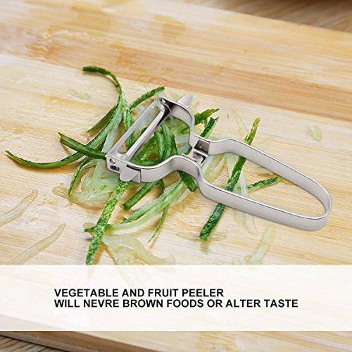 Potato Swiss Peeler-JVTIA Vegetable peeler Precision Kitchenware Fruit Stainless steel peeler,2 piece non-slip handles by JVTIA (Image #3)