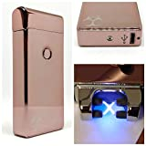 Alien Impulse Double Plasma Arc USB Lighter Rechargeable 8 Colors (Rose Gold)