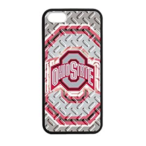 Zyhome iPhone 5,5S NCAA Ohio State Buckeyes Official Logo Case Cover for iPhone 5,5S TPU (Laser Technology)