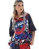 Cool Girls Trendy Womens Sport Zip Hoodie Let's Rock Skull Hip Hop Street Dance