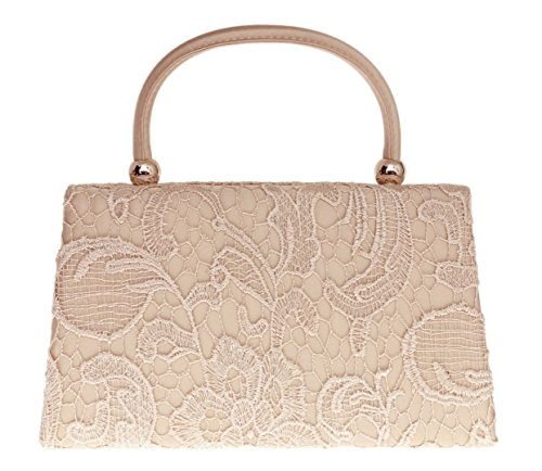 Top Wedding Out Womens Elegant Going Wedding Designer Lace London Ladies Clutch Party Champagne Bag Craze Evening Handbag Bag Handle Clutch Womens Fashion Vintage Satin Handbag Cq6wW