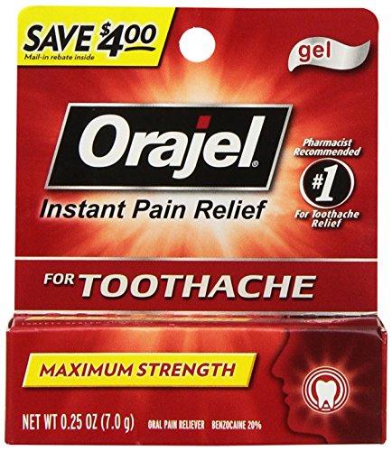 Orajel Maximum Strength Gel Oral Pain Reliever, 0.42 - Instant Pain Orajel Relief