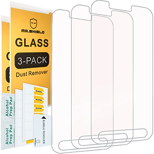"""Price comparison product image [3-PACK]- Mr Shield For Samsung """"Galaxy S7 Active"""" (Not Fit For Galaxy S7) [Tempered Glass] Screen Protector [0.3mm Ultra Thin 9H Hardness 2.5D Round Edge] with Lifetime Replacement Warranty"""