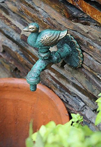 Weirun Duck Decorative Solid Brass Garden Outdoor Faucet - With a Set of Brass Quick Connecter for 1/2' Inches Hose